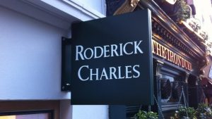 Blade Signs Roderick Projecting storefront outdoor Sign 300x169