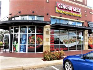 Storefront Signs custom storefront outdoor building restaurant window vinyl channel letters 300x225