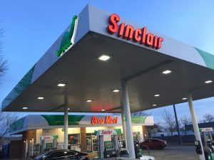 Gas Station Signs outdoor lighted awning channel letters gas station vinyl 300x225